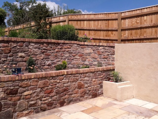 Result: all stonework, capping, rendering, terrace work carried out.